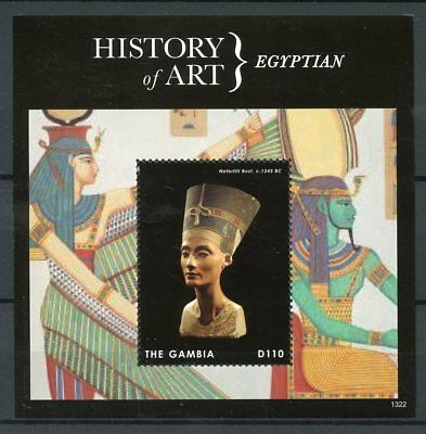 Gambia 2013 MNH History of Art Egyptian 1v S/S Nefertiti Bust
