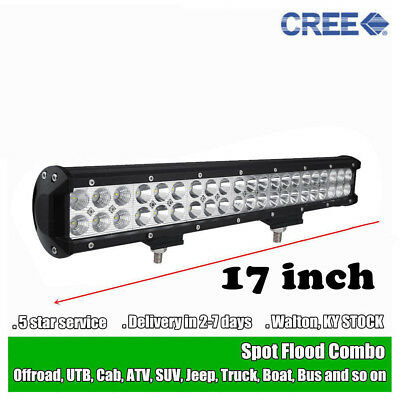 20inch 126W CREE LED Work Light Bar Offroad Truck Boat Jeep Ford Fog SUV 4WD 24