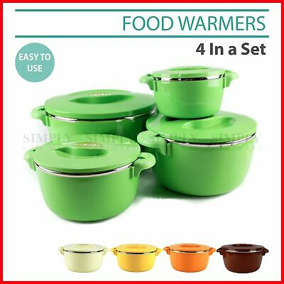 Portable Food Warmer Insulated Warm Thermal Container 4 Piece Set Pot Kitchen