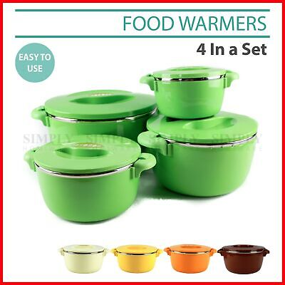 Portable Food Warmer Warmers Insulated Warm Thermal Container - 4 Piece Set