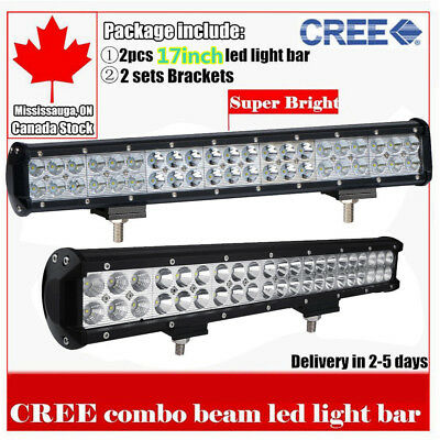 2x CREE 20inch LED Light Bar Work Offroad Truck Boat Jeep Ford SUV ATV UTE 4WD