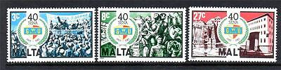 Malta Mnh 1983 Sg722-724 40Th Anv Of General Workers Union Set Of 3