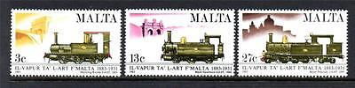 Malta Mnh 1983 Sg705-707 Centenary Of Malta Railway Set Of 3