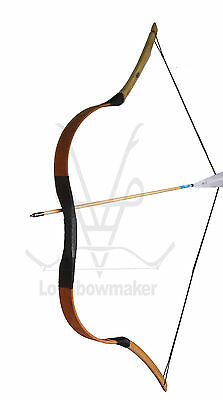 Handmade Chinese Traditional Pigskin Longbow Hunting Bow HorseBow 15-80lb