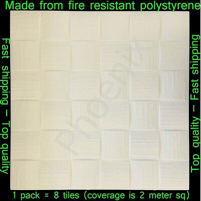Polystyrene Ceiling Tile Wall Panels DIY Decorating Safety Approved 2M² 193