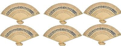 6 PCS Chinese Japanese Bamboo folding Fan HAND FAN  U.S. Seller