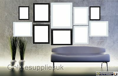 White & Black 10 Piece Multi Picture Frame Photo Frame Collage Wall Table Set