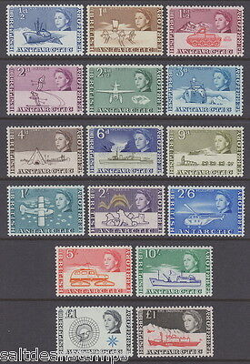 BRITISH ANTARCTIC TERRITORY 1963-69 ½d to £1 Definitives (16v) - UM / MNH*
