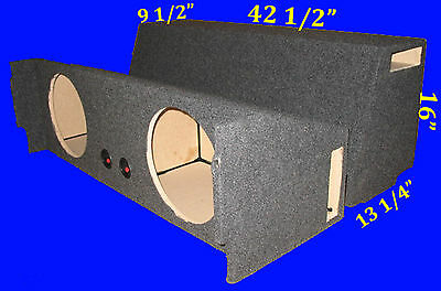 "Chevrolet Chevy Tahoe 2007-Up 10"" Ported Vented Grey Subwoofer Sub Enclosure Box"