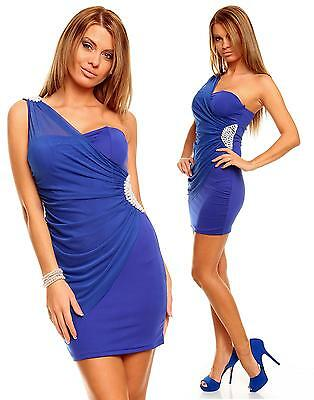 Womens Embellished Sexy Mesh Party Evening Cocktail Mini Dress size 8 10 Pearls