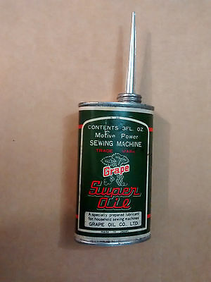 NEW can of Vintage Grape Super Oil sewing machine 3fl oZ Good for Singer tin A