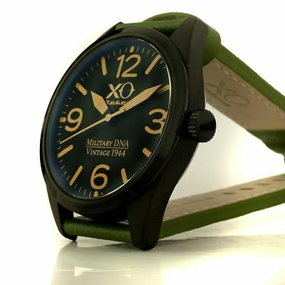 New Mens XO RETRO P-51 Mustang Vintage WWII 1941-1944 Military Green DNA Watch