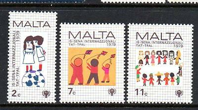 Malta Mnh 1979 Sg627-629 International Year Of The Child Set Of 3