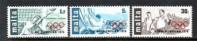 Malta Mnh 1976 Sg559-561 Olympic Games - Montreal Set Of 3