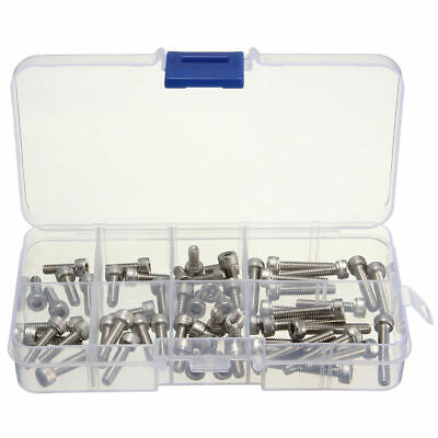 60pcs M4 Stainless Steel Hex Socket Head Cap Screw Assortment Kit