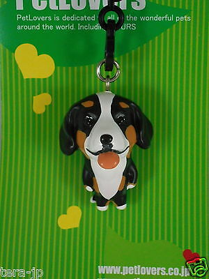 PetLovers Bernese Mountain Dog Figurine Phone Strap Japan