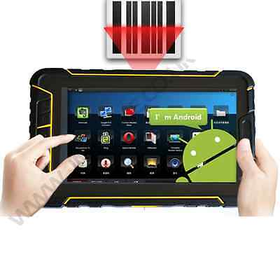 Rugged android 5.1 barcode scanner waterproof IP67 tablet with 4g wifi NFC GPS