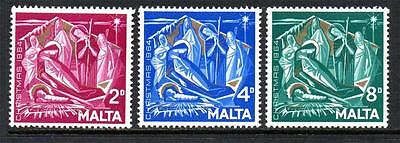 Malta Mnh 1964 Sg327-329 Christmas Set Of 3