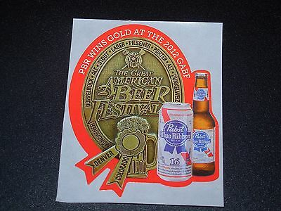 PABST BLUE RIBBON gold medal PBR LOGO STICKER decal craft beer brewery brewing