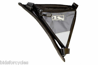 M-Wave Bicycle Cycle Bike Triangle Quick Release Frame Corner Bag - 600 Denier