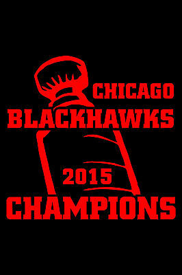 "Chicago Blackhawks Sticker Stanley Cup Finals Champions 9"" Wide - Choose Colors"