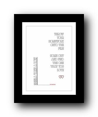 The Smiths ❤ Sheila Take A Bow song lyrics poster art limited edition print #3