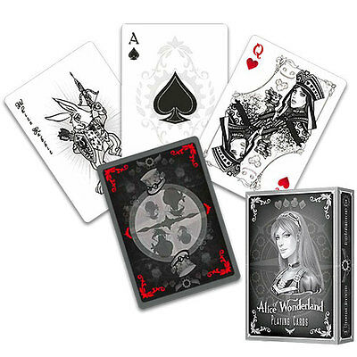 Alice of Wonderland Deck - Silver - Playing Cards - Magic Tricks - New