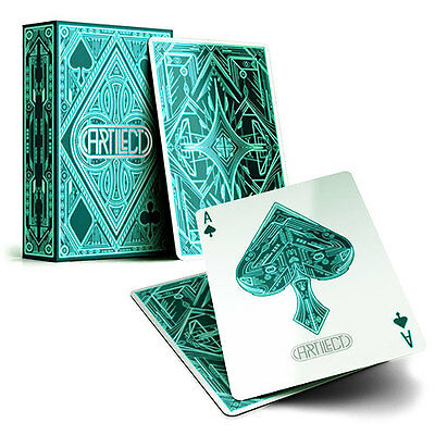 Artilect Deck - Green - Playing Cards - Magic Tricks - New