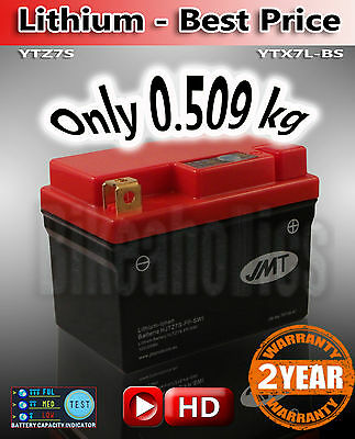 70% less weight 90% less discharge 10X lifetime than a normal YTX7A-BS LiFePo4