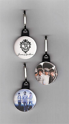 "Jonas Brothers Set of 3 - 1"" Zipper Pulls Zipper Charms"