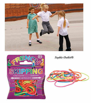 Kids French Skipping Rope Christmas Stocking Filler Birthday Gift Elastic Jump