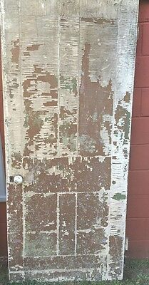 "Vintage Antique Architectural Wooden door 34.5"" x 79"" Hardware Craft Salvage"