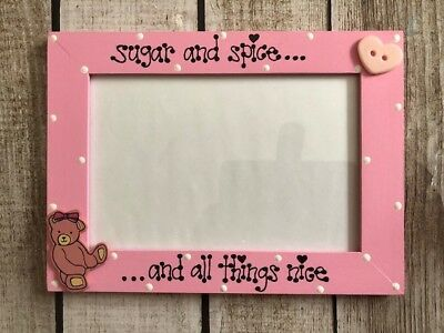Baby Girl Photo Frame 4 x 6 Pink Picture Frame