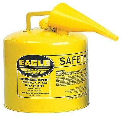 Eagle Diesel Can 5 Gal Meets Osha & Nfpa Code 30 Requirements Metal