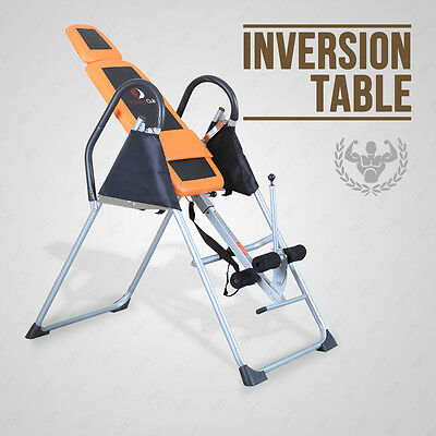 Orange + Black Exercise Fitness Inversion Table Chiropractic Table fitness club