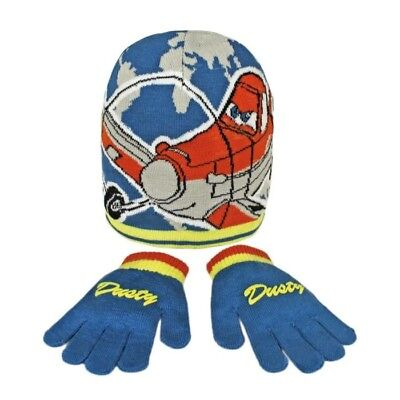 Disney Dusty From Planes Child/ Boys Winter 2 Piece Hat And Gloves Set
