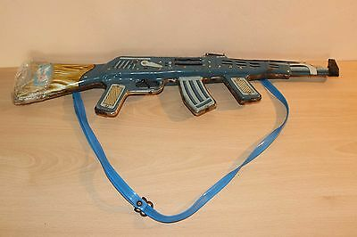 Vintage USSR Metal Toy AK 47 Gun Rifle Rare