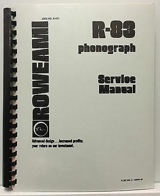 JUKEBOX MANUAL ROWE R-83 SERVICE MANUAL - AMR No. R-471