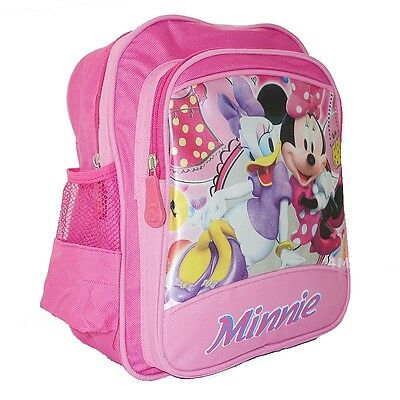 Kids Girls School Bag Backpack Rucksack Disney Minnie Mouse Medium Small Gift