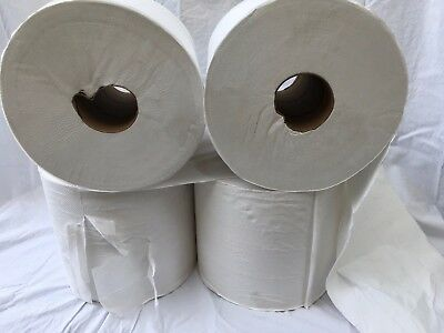 (4) Large Shop Towel Rolls With Core, Off Spec/Imperfect Rolls