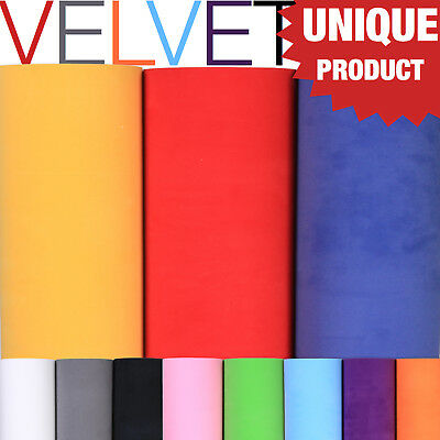 Velvet Suede Fabric Vehicle Wrapping Vinyl Wrap Film Sticker 11 Colour all Sizes