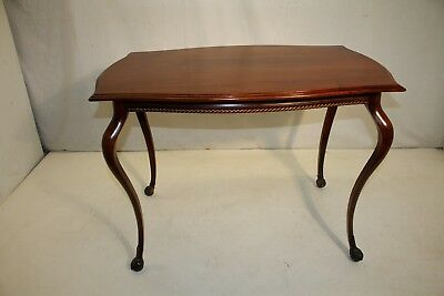 French Victorian Solid Walnut Center Table with Ormolu, 19th Century