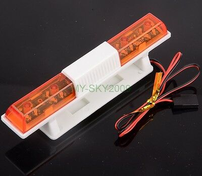 Police Night Flash Bright LED Lights Orange For 1:10 RC Car Truck TAMIYA LED502C