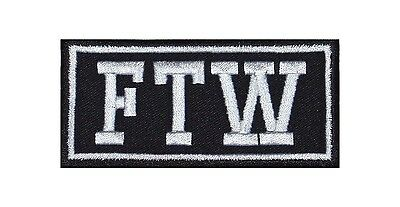 FTW = F*** the World Biker Heavy Rocker Patch Aufnäher Kutte Motorrad Badge Bild