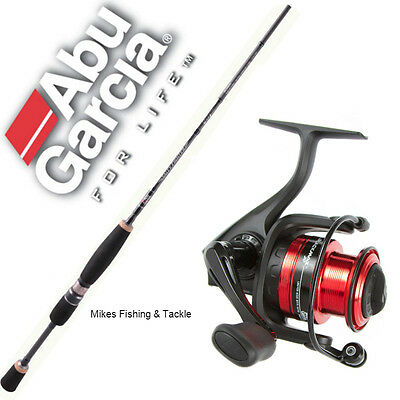 "Abu Garcia Salty Fighter 6'6"" 6-10 Kg 2pc Fishing Rod Black Max 40 Reel Combo"