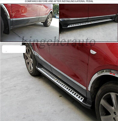 aluminium fit BUICK Encore OPEL Mokka 2012-2018 running board side step nerf bar