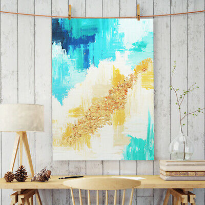 Hand-Painted Oil Painting - Gold Leaf S | Modern Abstract Decor Unframed Wall Ar