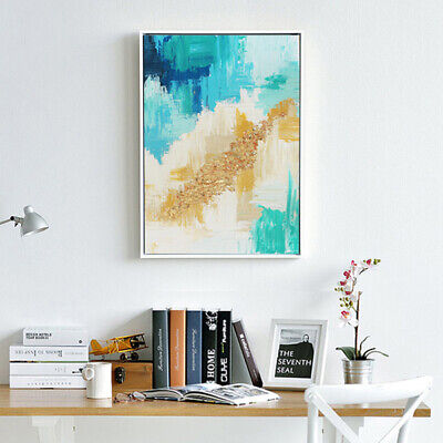 Hand-Painted Oil Painting - Gold Leaf | Modern Abstract Decor Unframed Wall Art