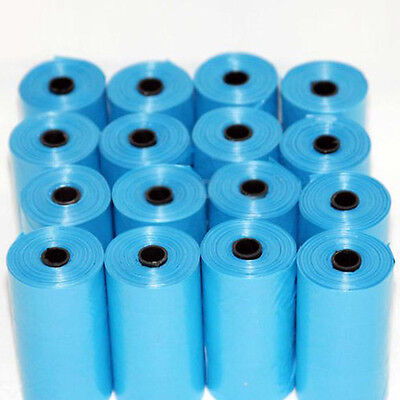 20 Rolls 400 Dog Pet Waste Poop Poo Refill Core Pick Up Clean-Up Bags Blue