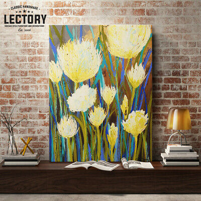 Hand-Painted Oil Painting - Wildflowers | Modern Abstract Decor Unframed Wall